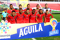 TUNJA-COLOMBIA, 21-09-2019: Jugadores de Patriotas Boyacá, posan para una foto, antes de partido de la fecha 12 entre Patriotas Boyacá y Atlético Huila, por la Liga Águila II 2019, jugado en el estadio La Independencia de la ciudad de Tunja. / Players of Patriotas Boyaca, pose for a photo, prior a match of the 12th date between Patriotas Boyaca and Atletico Huila, for the Aguila Leguaje II 2019 played at the La Independencia stadium in Tunja city. / Photo: VizzorImage / José Miguel Palencia / Cont.