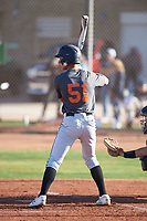 Aidan Morrison (51), from Kennewick, Washington, while playing for the Giants during the Under Armour Baseball Factory Recruiting Classic at Gene Autry Park on December 30, 2017 in Mesa, Arizona. (Zachary Lucy/Four Seam Images)