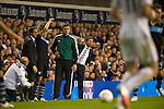 Tottenham Hotspur 0 Lazio 0, 20/09/2012. White Hart Lane, Europa League. Andre Villas-Boas watches the action from the technical area. Photo by Simon Gill.