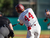 STANFORD, CA - JUNE 5: Christian Robinson during a game between UC Irvine and Stanford Baseball at Sunken Diamond on June 5, 2021 in Stanford, California.