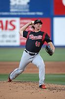 Dusten Knight (48) of the Sacramento River Cats pitches against the Las Vegas 51s at Cashman Field on June 15, 2017 in Las Vegas, Nevada. Las Vegas defeated Sacramento, 12-4. (Larry Goren/Four Seam Images)