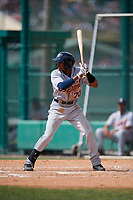 Detroit Tigers Isrrael De La Cruz (70) bats during a minor league Spring Training game against the Atlanta Braves on March 25, 2017 at the ESPN Wide World of Sports Complex in Orlando, Florida.  (Mike Janes/Four Seam Images)