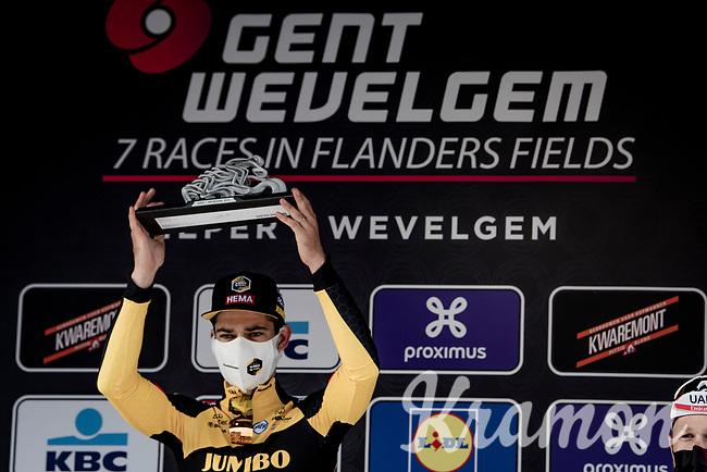 Wout van Aert (BEL/Jumbo-Visma) wins the 83rd Gent-Wevelgem - in Flanders Fields (ME - 1.UWT)<br /> 1 day race from Ieper to Wevelgem (BEL): 254km<br /> <br /> ©kramon