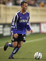 18 June 2005:  Brad Davis of Earthquakes in action against Real Salt Lake at Spartan Stadium in San Jose, California.    Earthquakes defeated Real Salt Lake, 3-0.   Mandatory Credit: Michael Pimentel / ISI
