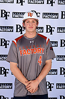 Jack Angus (4) of Eaton High School in Haslet, Texas during the Baseball Factory All-America Pre-Season Tournament, powered by Under Armour, on January 12, 2018 at Sloan Park Complex in Mesa, Arizona.  (Mike Janes/Four Seam Images)
