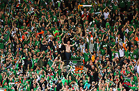 Irish fans celebrate their win during the FIFA World Cup Qualifier Group D match between Wales and Republic of Ireland at The Cardiff City Stadium, Wales, UK. Monday 09 October 2017