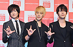Kwangsoo, Sungmo and Jihyuk(Choshinsung, Supernova), Aug 30, 2013 : Tokyo, Japan : (L-R)Kwangsu, Sungmo and Jihyuk of Korean boy band Supernova attend a press conference for new promotion video of Lotte Duty Free shop in Tokyo, Japan, on August 30, 2013.