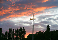 Flood lights of Stade Fallon pictured at a female soccer game between FC Femina White Star Woluwe and Club Brugge YLA on the second matchday in the 2021 - 2022 season of Belgian Scooore Womens Super League , Friday 27 th of August 2021  in Woluwe , Belgium . PHOTO SPORTPIX | SEVIL OKTEM