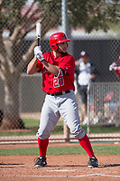 Los Angeles Angels center fielder Nonie Williams (27) during a Minor League Spring Training game against the Cincinnati Reds at the Cincinnati Reds Training Complex on March 15, 2018 in Goodyear, Arizona. (Zachary Lucy/Four Seam Images)