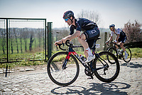 Leonardo Basso (A/INEOS Grenadiers) atop the Taaienberg <br /> <br /> 76th Dwars door Vlaanderen 2021 (MEN1.UWT)<br /> 1 day race from Roeselare to Waregem (184km)<br /> <br /> ©kramon