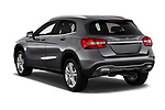 Car pictures of rear three quarter view of a 2018 Mercedes Benz GLA GLA250 5 Door SUV angular rear