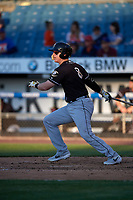 Charlotte Knights Zack Collins (8) at bat during an International League game against the Syracuse Mets on June 11, 2019 at NBT Bank Stadium in Syracuse, New York.  Syracuse defeated Charlotte 15-8.  (Mike Janes/Four Seam Images)