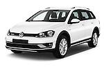 2015 Volkswagen Golf Alltrack 5 Door Wagon Angular Front stock photos of front three quarter view