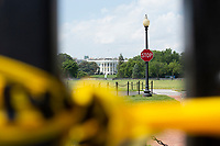 The White House is seen in Washington D.C., U.S., on Wednesday, June 10, 2020.  Additional fencing had been set up near the White House in response to the demonstrations caused by the death of George Floyd while he was in police custody on May 25, 2020.  Credit: Stefani Reynolds / CNP/AdMedia
