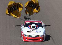 Feb. 23, 2013; Chandler, AZ, USA; NHRA pro stock driver Greg Stanfield during qualifying for the Arizona Nationals at Firebird International Raceway. Mandatory Credit: Mark J. Rebilas-