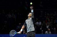 Raven Klaasen in action against Nikola Mektic and Alaxander Peya with his partner Michael Venus<br /> <br /> Photographer Hannah Fountain/CameraSport<br /> <br /> International Tennis - Nitto ATP World Tour Finals Day 3 - O2 Arena - London - Tuesday 13th November 2018<br /> <br /> World Copyright © 2018 CameraSport. All rights reserved. 43 Linden Ave. Countesthorpe. Leicester. England. LE8 5PG - Tel: +44 (0) 116 277 4147 - admin@camerasport.com - www.camerasport.com