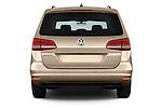 Straight rear view of 2016 Volkswagen Sharan Confortline 5 Door Minivan Rear View  stock images
