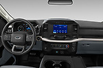 Stock photo of straight dashboard view of 2021 Ford F-150 XL 4 Door Pick-up Dashboard