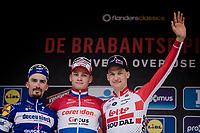 Mathieu Van Der Poel (NED/Correndon-Circus) wins the 59th De Brabantse Pijl - La Flèche Brabançonne 2019 (1.HC)<br /> 2nd: Julian ALAPHILIPPE (FRA/Deceuninck-Quick Step)<br /> 3rd: Tim Wellens (BEL/Lotto-Soudal)<br /> <br /> One day race from Leuven to Overijse (BEL/196km)<br /> <br /> ©kramon