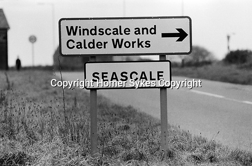 Windscale and Calder Nuclear processing plant 1980s Cumbria UK. British Nuclear Fuels. Formally known as Sellafield 1983.