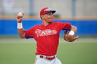 Philadelphia Phillies Jan Hernandez (18) during an instructional league game against the Toronto Blue Jays on September 28, 2015 at Englebert Complex in Dunedin, Florida.  (Mike Janes/Four Seam Images)