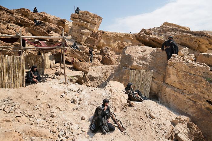"""Shooting of the series """"Dhebbah Ighleis"""" (""""Ighleis the killer"""") Jordan, March 2017 (Arab Telemedia). The story is inspired by a legendary character from the Bedouin mythology: Ighleis, a bloodthirsty killer is the hero of the series. In this scene, he and the other fighters are resting on the camp site in war times. <br /> <br /> Tournage de la série """"Dhebbah Ighleis"""" (""""Ighleis le tueur"""") Jordanie, Mars 2017 (Arab Telemedia). La série met en scène un personnage légendaire de la mythologie bédouine: Ighleis, un guerrier sanguinaire, est ici le héro. Dans cette scène, lui et d'autres guerriers font escale dans un campement en temps de guerre."""