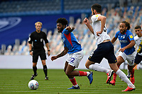 Ellis Harrison of Portsmouth looks for a pass during Portsmouth vs Oxford United, Sky Bet EFL League 1 Play-Off Semi-Final Football at Fratton Park on 3rd July 2020
