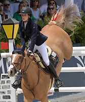 MIAMI BEACH, FL - APRIL 20: Jessica Rae Springsteen at the Longines Global Champions Tour finals in Miami Beach. Singer Bruce Springsteen's daughter Jessica Rae Springsteen and fellow riders Former Mayor of New York Michael Bloomberg's daughter Georgina Bloomberg as well as Bill Gates daughter Jennifer Gates were all in attendance on April 20, 2019 in Miami Beach, Florida<br /> <br /> <br /> People:  Jessica Rae Springsteen