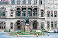 H. H. Richardson: Albany City Hall Facade. The bronze figure is Major General Philip Schuyler, 1733-1894.