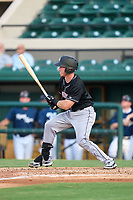 Jupiter Hammerheads Keegan Fish (1) bats during a game against the Lakeland Flying Tigers on July 30, 2021 at Joker Marchant Stadium in Lakeland, Florida.  (Mike Janes/Four Seam Images)