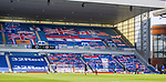 Rangers v St Mirren:  Rangers Supporters Clubs have their flags displayed in the Copland Road Stand of Ibrox Stadium