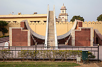 Jaipur, Rajasthan, India.  Jantar Mantar, an 18th-century Site for Astronomical Observations, now a World Heritage Site.  This is the Laghu Samrat Yantra, the small sundial.
