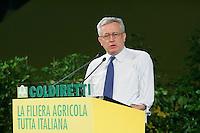 Il Ministro dell Economia Giulio Tremonti .Coldiretti - Assemblea Nazionale 2010..Roma, 2 Luglio 2010..Photo Serena Cremaschi Insidefoto
