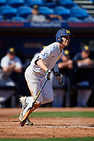 Michigan Wolverines designated hitter Dominic Clementi (13) at bat during a game against Army West Point on February 18, 2018 at Tradition Field in St. Lucie, Florida.  Michigan defeated Army 7-3.  (Mike Janes/Four Seam Images)