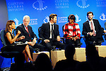White House Director of Domestic Policy Council Melody Barnes, Former President Bill Clinton, Brad Pitt