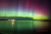Aurora, Northern LIghts, technicolor curtain, Upper Harbor, Marquette MI