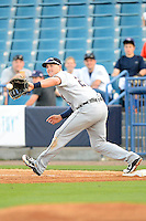 Lakeland Flying Tigers first baseman Aaron Westlake #25 during a game against the Tampa Yankees at Steinbrenner Field on April 6, 2013 in Tampa, Florida.  Lakeland defeated Tampa 8-3.  (Mike Janes/Four Seam Images)