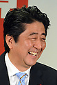 Shinzo Abe during a news conference at the Liberal Democratic Party headquarters in Tokyo