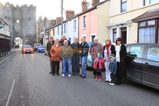 Residents of the cord road protesting over the traffic congestion...Picture Fran Caffrey/Newsfile.ie