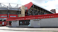 General view outside Charlton Athletic showing the Superstore. With the game to be played behind closed doors it was ok two hours ahead of kick-off during Charlton Athletic vs Reading, Sky Bet EFL Championship Football at The Valley on 11th July 2020