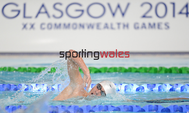Wales Daniel Jarvis in action during his heats<br /> <br /> Photographer Ian Cook/Sportingwales<br /> <br /> 20th Commonwealth Games - Swimming -  Day 4 - Monday 28th July 2014 - Glasgow - UK