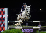 Bertram Allen on Hector van d'Abdijhoeve competes during the AirbusTrophy at the Longines Masters of Hong Kong on 20 February 2016 at the Asia World Expo in Hong Kong, China. Photo by Juan Manuel Serrano / Power Sport Images