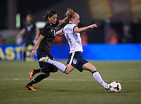 Becky Sauerbrunn, Amber Hearn. The USWNT tied New Zealand, 1-1, at an international friendly at Crew Stadium in Columbus, OH.