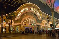 Las Vegas, Nevada.  Fremont Street.  Golden Nugget Casino.
