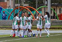 GUARNE - COLOMBIA, 01-11-2020: Atlético Nacional y Deportivo Independiente Medellín en partido por la fecha 3 como parte de la Liga femenina BetPlay DIMAYOR 2020 jugado en el estadio Bernardo Nando Alvares de Guarne. / Atletico Nacional and Deporitvo Independiente Medellin in match for the date 3 as part of Women's BetPlay DIMAYOR League 2020 played at Municipal Bernardo Nando Alvarez stadium in Guarne. Photo: VizzorImage / Donaldo Zuluaga / Cont