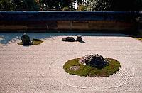 Dry landscape rock garden, detail, Kyoto, Japan