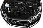 Car Stock 2015 Hyundai I40 Premium 5 Door Wagon Engine  high angle detail view