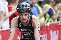 6th June 2021; Leeds, Yorkshire, England;  Jonny Brownlee in action during the AJ Bell 2021 World Triathlon Series Event in Roundhay Park, Leeds.