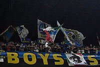 FC Internazionale supporters group named Boys cheer on during the Uefa Champions League group D football match between FC Internazionale and Real Madrid at San Siro stadium in Milano (Italy), September 15th, 2021. Photo Andrea Staccioli / Insidefoto