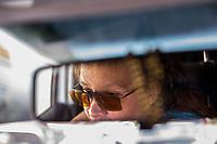 Mexico, Morelos,Tepoztlan, female taxi driver.